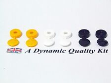 6 x Car Reg Number Plate Screw Cap Hinged Covers 2 x White Yellow Black
