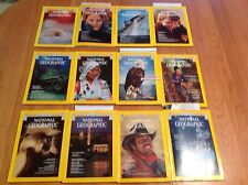 1976 National Geographic Magazine With Maps Complete Year 12 Issues