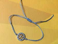 Flower Blue Cord  Handmade Bracelet