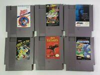 6 Game Nintendo NES lot - Black Manta, Gotcha, Base Wars, Total Recall, MORE