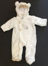 NWT Gymboree Snow Bear Snow Bunny 6-9 Month Faux Fur Fleece Lined Romper w/ Ears