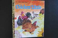 1973 Chicken Little Story Book A Little Golden Book Chickens Hens Ducks Vintage