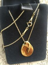 "Tiffany & Co. Madonna Oval Pendant Necklace in 18k Yellow Gold -16"" long"