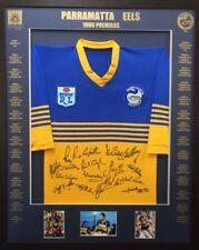 4aedaaec15ea Blazed In Glory - 1986 Parramatta Eels Premiers - NRL Signed   Framed Jersey