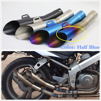 Universal Exhaust Muffler Steel Pipe Slip On Racing Street Bike Motorcycle