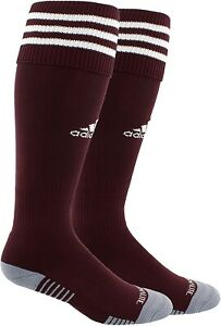 adidas Unisex 186732 Copa Zone Cushion III Soccer Socks Maroon White Size L