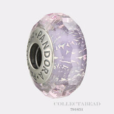 Authentic Pandora Sterling Silver Murano Purple Shimmer Bead 791651