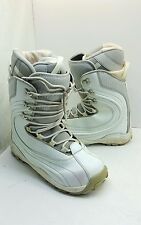 DIVISION 23 WOMEN'S SIZE 10M WHITE AND GRAY SNOW COLD WHEATER BOOTS