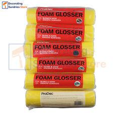 "6 x Foam Paint Roller Sleeves 9"" | Gloss Satin Varnish Foam Roller Refills 9"""