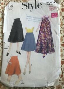 VTG 60s Style Sewing 2229 Skirt Pattern In 4 Lengths Waist 25.5 Hip 36