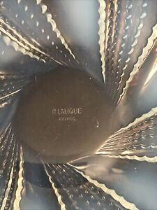 R LALIQUE LES FLEURONS ASSIETTE OPALESCENT ART DECO GLASS SIGNED