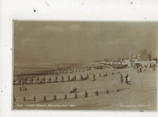 West Beach Bexhill On Sea 1936 RP Postcard Wiseman Horner 663a
