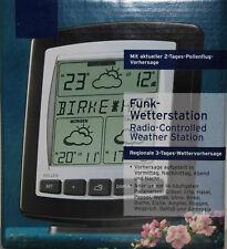 Funkwetterstation mit Pollenflug Vorhersage, Wettervorhersage Funkwecker NEU