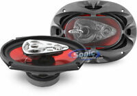 """2) BOSS CHAOS CH6950 6x9"""" 5-Way 600W RMS Car Coaxial Audio Stereo Speakers Pair"""