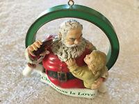 Vintage 1990 Enesco Christmas Is Love Coca Cola Trim-A-Tree Collection Ornament