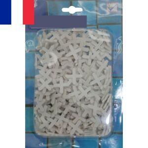 300 Croix de Carrelage Croisillons Entrecroisement Carreaux Blanc 5 x 5 mm