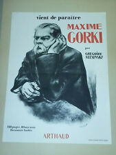 AFFICHE publicitaire MAXIME GORKI par GREGOIRE ALLEXINSKY -ARTHAUD- GARCIA 1950