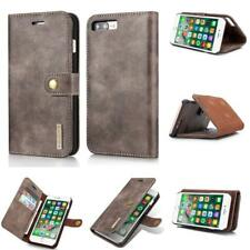 Genuine Cowhide Detachable Wallet Folio Flip Leather Case For iPhone 7 8 Plus
