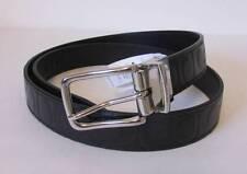 Coach Reversible signature logo belt black leather man OS One size silver CC