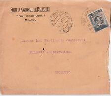 ITALIA 1912 15C PERFIN SOCIETA NAZIONALE DEI RADIATORI  DA MILANO PER GROSSETO