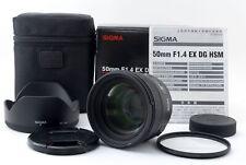 Sigma 50mm F/1.4 Ex Dg HSM Af Primo Obiettivo Per F Supporto W/ Box [ Quasi