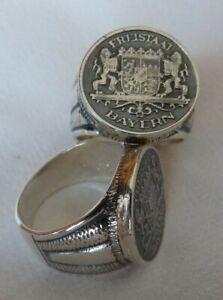 Freistaat Bayern Wappen Ring Silber 925