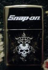 "Snap-on Tools NEW Zippo Skull Lighter Heavy Metal Encasement 1-1/2"" w x 2-1/4"" h"