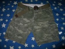 ABERCROMBIE & FITCH Rugged Men Camo Cargo Shorts Camouflage With Belt 31