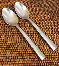 Lenox 18/10 CONTINENTAL DINING Flare Tip Stainless Glossy 2 PLACE OVAL SPOONS
