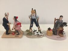 Norman Rockwell Figurines Lot Of (11)