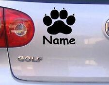 Pfote mit Wunschname Katze Hund Autoaufkleber Wandtattoo Aufkleber in 15cm