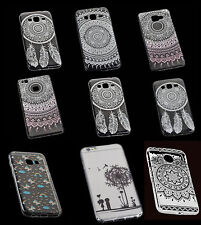 Ultra Slim Silikon TPU Case Cover Handy Hülle Schutzhülle mit Tattoo Design (2)