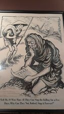 Hugh Haynie Cartoonist Original Art Authentic Signed Dated and Personalized NR