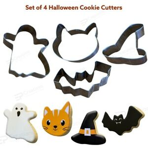 4 Pcs Halloween Cookie Cutters Biscuit Fondant Cake Decoration Halloween Party
