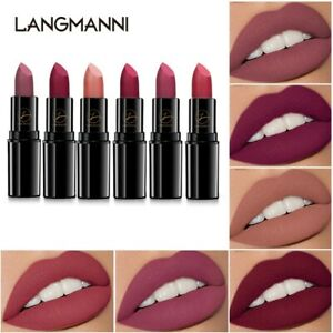 New 6 Color Portable Matte Lipstick Waterproof Sweatproof Lip Gloss Lasting Wome