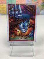 SHIPS SAME DAY 1996 Fleer COLOSSUS EXCALIBUR Marvel X-MEN Trading Card 25