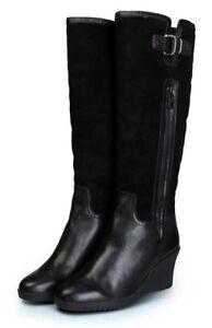 Mubo Australia Damen Keil Stiefel Wedges Stiefelette Boots Lammfell