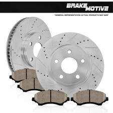 FRONT KIT DRILLED AND SLOTTED BRAKE ROTORS & CERAMIC PADS Fits: Infiniti Nissan