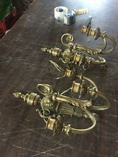 Lc 9 1Pair Antique Heavy Brass Three Arm Wall Sconce