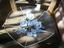"""MIKASA """"EVITA"""" ORIGINAL WALTHER - GLAS MADE IN  GERMANY FLORAL CENTERPIECE BOWL."""