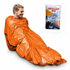 Emergency Sleeping Bag Thermal Waterproof Outdoor Survival Camping Hiking 2 Pack