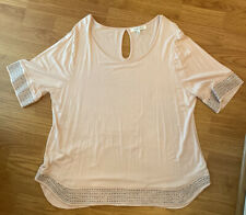 NWOT Rose+olive Women's Top Pink Color With Gray Studs Size XL