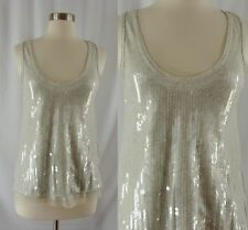 J. Crew Collection Gray Sequin Tank XS