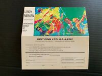 Vintage Leroy Neiman Wonderful World Of Golf Editions LIMITED Gallery Card