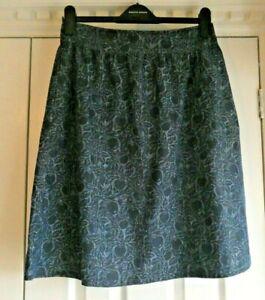 Beautiful Blue Seasalt propagate Cotton Skirt Size 10 Immaculate