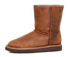 UGG Australia Classic Leather Boots Brown Women Sz 4 4101 *