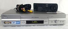 Sony SLV-N750 VHS 4 Head Hi Fi Stereo VCR/VHS Player w Remote and RCA Cables