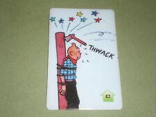 tintin attaché a un totem indien  carte téléphonique  (phone card) OBJET Bd