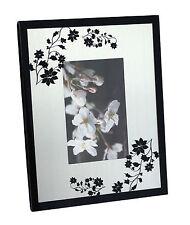 Cadre photo en Verre décoration fleurs Noires décoration maison