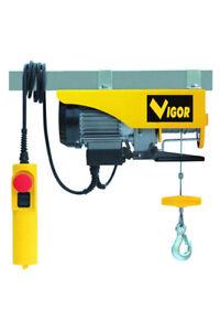 Paranco elettrico vigor 125/250 kg o 200/400 kg montacarichi